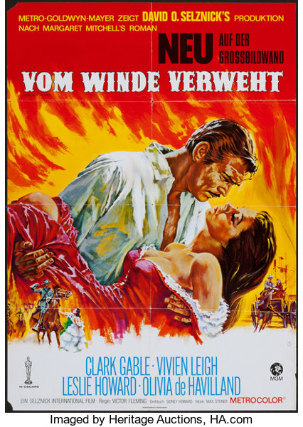 gone with the wind lot mgm 1930s 1970s german a1s 2 23 25