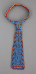 American Indian Art:Beadwork and Quillwork, A SIOUX BEADED HIDE NECKTIE. c. 1900...