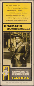 "Movie Posters:Crime, Illegal (Warner Brothers, 1955). Insert (14"" X 36"") & LobbyCard (11"" X 14""). Crime.. ... (Total: 2 Items)"