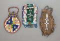 American Indian Art:Beadwork and Quillwork, THREE SIOUX BEADED HIDE POUCHES. c. 1890... (Total: 3 )
