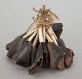 American Indian Art:Pipes, Tools, and Weapons, A PLAINS DEW CLAW RATTLE. c. 1880...