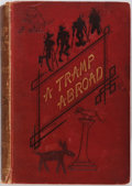 Books:Literature Pre-1900, Mark Twain. A Tramp Abroad. London: Chatto and Windus, 1880.Illustrations throughout. Publisher's red pictorial clo...