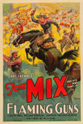 "Movie Posters:Western, Flaming Guns (Universal, 1932). One Sheet (27"" X 41"").. ..."