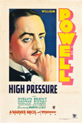 "Movie Posters:Drama, High Pressure (Warner Brothers, 1932). One Sheet (27"" X 41"").. ..."