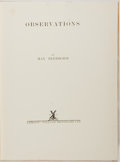 Books:Art & Architecture, Max Beerbohm. Observations. London: Heinemann, 1925. First edition, first printing. Illustrations throughout, with p...