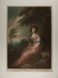 Books:Prints & Leaves, Original Signed Mezzotint Portrait of a Young Lady. N.d., ca. 1920.Signed by the artist in pencil in the lower right corn...