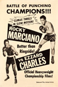 "Movie Posters:Sports, Rocky Marciano vs. Ezzard Charles (United Artists, 1955). Poster (40"" X 60"").. ..."