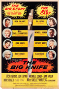 """Movie Posters:Drama, The Big Knife (United Artists, 1955). Poster (40"""" X 60"""") Style Z.Drama.. ..."""