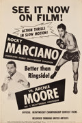 "Movie Posters:Sports, Rocky Marciano vs. Archie Moore (United Artists, 1955). Poster (40"" X 60"").. ..."