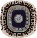 Basketball Collectibles:Others, 1988 Los Angeles Lakers NBA Championship Ring Presented to Team Staffer....