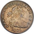 Early Half Dollars, 1806 50C Pointed 6, No Stem AU55 PCGS. CAC. O-109a, R.4....