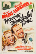 "Movie Posters:Comedy, Having Wonderful Time (RKO, 1938). One Sheet (27"" X 41""). Comedy....."