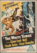 "Movie Posters:Adventure, The White Tower (RKO, 1950). Australian One Sheet (28"" X 40"").Adventure.. ..."