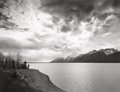 Photographs:20th Century, ALAN ROSS (American, 20th century). Jackson Lake, Clouds, GrandTeton National Park, 1975. Gelatin silver. 10 x 15 inche...