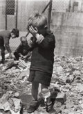 Photographs:20th Century, ROGER MAYNE (British, b. 1929). Boy on a Bombsite,Paddington, 1957. Gelatin silver, 1989. 13-3/4 x 10-1/4 inches(34.9 ...
