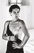 Photographs, HELMUT NEWTON (German/Australian, 1920-2004). Paloma Picasso, Saint-Tropez, 1973. Gelatin silver, printed later. 14-1/4 ...