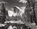 Photographs, ANSEL ADAMS (American, 1902-1984). Half Dome, Merced River, Winter, Yosemite Valley, California, 1938. Gelatin silver, c...
