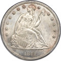 Seated Dollars, 1861 $1 MS64+ PCGS....
