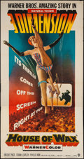 "Movie Posters:Horror, House of Wax (Warner Brothers, 1953). Three Sheet (41"" X 79"") 3-D Style. Horror.. ..."
