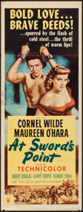 "Movie Posters:Adventure, At Sword's Point (RKO, 1952). Insert (14"" X 36""). Adventure.. ..."