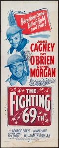 "Movie Posters:War, The Fighting 69th (Dominant, R-1956). Insert (14"" X 36""). War.. ..."