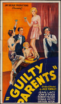 "Movie Posters:Exploitation, Guilty Parents (Syndicate Pictures, 1934). Partial Three Sheet (41""X 69.5""). Exploitation.. ..."