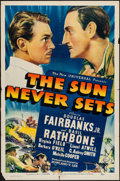 "Movie Posters:Adventure, The Sun Never Sets (Universal, 1939). One Sheet (27"" X 41"").Adventure.. ..."