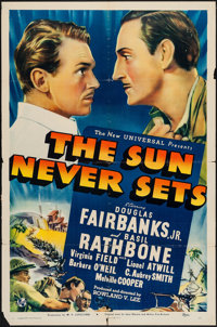 "The Sun Never Sets (Universal, 1939). One Sheet (27"" X 41""). Adventure"
