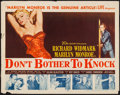 """Movie Posters:Thriller, Don't Bother to Knock (20th Century Fox, 1952). Half Sheet (22"""" X 28""""). Thriller.. ..."""