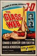 """Movie Posters:Crime, The Glass Web (Universal International, 1953). One Sheet (27"""" X 41"""") 3-D Style. Crime.. ..."""