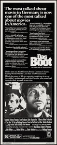 "Movie Posters:War, Das Boot (Columbia, 1982). Insert (14"" X 36"") Review Style. War....."