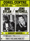 "Movie Posters:Rock and Roll, Bob Dylan & Joni Mitchell (Universal Concerts, 1998). CanadianConcert Poster (17"" X 23""). Rock and Roll.. ..."