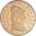Early Quarter Eagles, 1798 $2 1/2 Five Berries -- Reverse Scratched -- NGC Details. XF.BD-2, R.5....