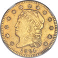 Early Quarter Eagles, 1824/1 $2 1/2 -- Repaired -- NGC Details. AU. BD-1, R.5....