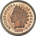 Proof Indian Cents, 1877 1C PR64 Red PCGS....