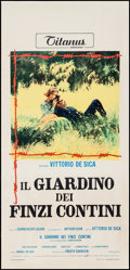 """Movie Posters:Foreign, The Garden of the Finzi-Continis (Titanus Distributors, 1970). Italian Locandina (13"""" X 27.5""""). Foreign.. ..."""