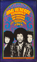 "Movie Posters:Rock and Roll, Jimi Hendrix Experience (Art Rock, R-1988). Autographed 20thAnniversary Concert Poster (17.5"" X 29.25""). Rock and Roll.. ..."