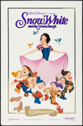 "Movie Posters:Animation, Snow White and the Seven Dwarfs (Buena Vista, R-1987). 50th Anniversary One Sheet (27"" X 41"") Gold Foil Style. Animation.. ..."