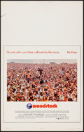 "Movie Posters:Rock and Roll, Woodstock (Warner Brothers, 1970). Window Card (14"" X 22""). Rock and Roll.. ..."