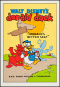 """Movie Posters:Animation, Donald's Better Self (Circle Fine Art, R-1980s). Fine Art Serigraph (21"""" X 30.75""""). Animation.. ..."""