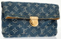 Luxury Accessories:Accessories, Louis Vuitton Neo Denim Monogram Amelia Clutch Bag. ...