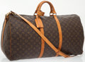 Luxury Accessories:Travel/Trunks, Louis Vuitton Classic Monogram Canvas Keepall Bandouliere 55Weekender Overnight Bag. ...