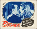"""Movie Posters:Romance, To Have and Have Not (Warner Brothers, 1944). Lobby Card (11"""" X14"""").. ..."""