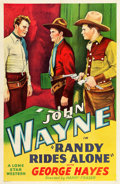 """Movie Posters:Western, Randy Rides Alone (Lone Star, R-Late 1930s). One Sheet (27"""" X 41"""").. ..."""