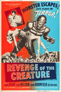 "Movie Posters:Horror, Revenge of the Creature (Universal International, 1955). SilkScreen Poster (40"" X 60"").. ..."
