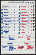 Baseball Collectibles:Others, 1993 Nolan Ryan Official Lineup Card from his Final Career Win....