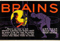 """Movie Posters:Miscellaneous, Brains (Mather and Company, 1923). Motivational Poster (28"""" X 41.5"""").. ..."""