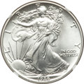 Modern Bullion Coins, 1986 $1 Silver Eagle MS70 NGC. NGC Census: (2554). PCGS Population: (209). Mintage 5,393,005. ...