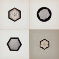 Photographs:20th Century, WILSON A. BENTLEY (American, 1865-1931). Group of Four SnowCrystals, circa 1905. Gold toned Photomicrographs. 2-1/2 x ...(Total: 4 Items)