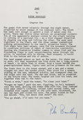 Autographs:Authors, Peter Benchley. Jaws Typescript Signed. Measures 7.75 x 11inches. Tipped onto backing. Fine. ...